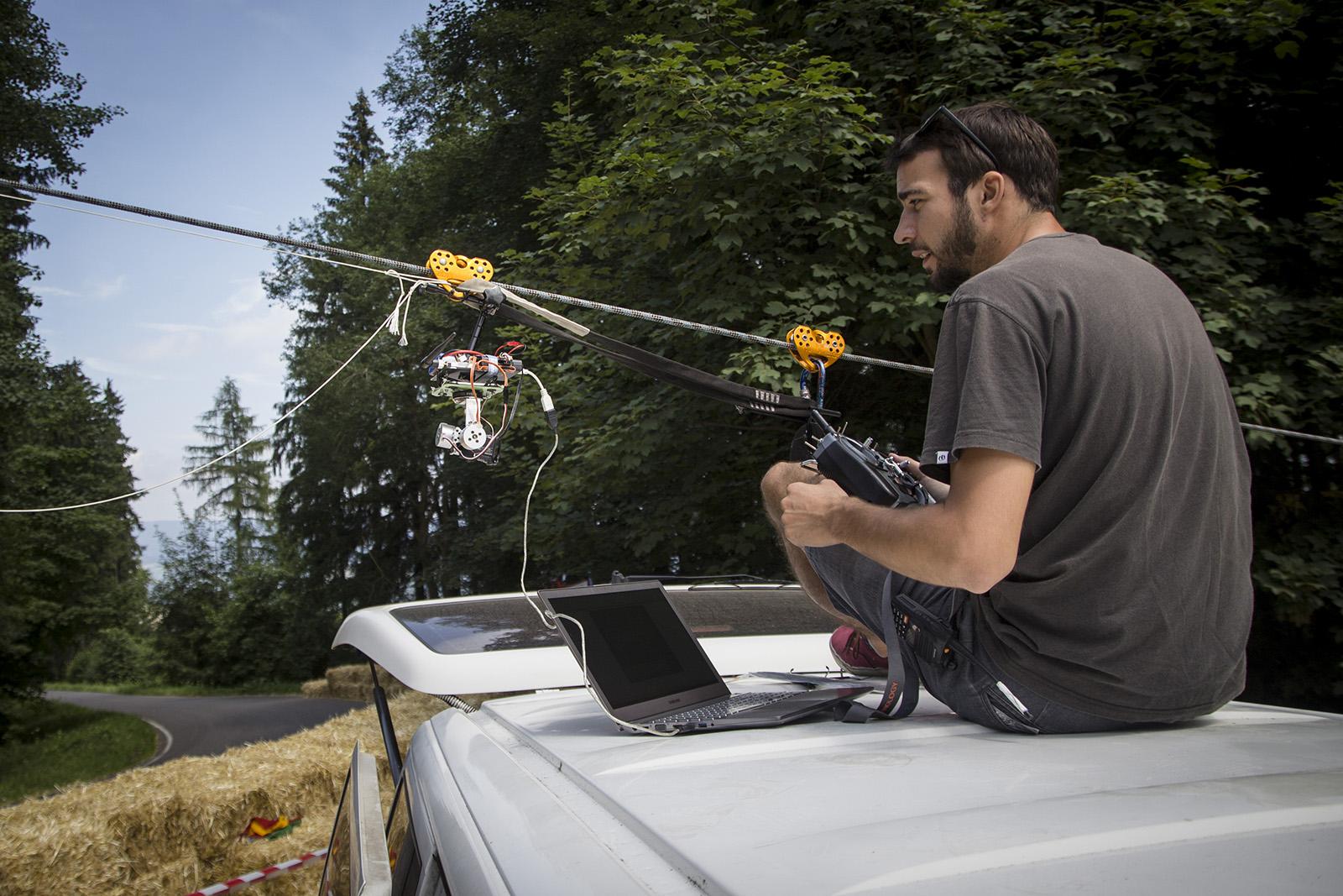 Remote control cable cam